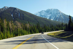 Driving in mountain road Stock Photography