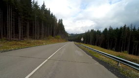 Driving on a mountain rural road. stock footage