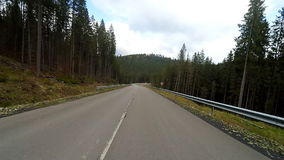Driving on a mountain rural road. stock video