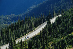 Driving on the mountain top Stock Images