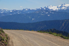 Driving in the mountians Royalty Free Stock Image