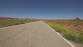 Driving in Navajo Nation Desert Utah- Time Lapse. Time lapse of driving in Navajo country Arizona desert stock video footage