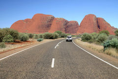 Driving Near Olgas Royalty Free Stock Photos