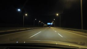 driving night απόθεμα βίντεο