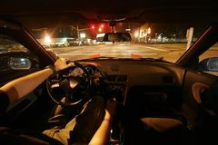 Driving at night stock photos