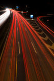 Driving through the night Stock Image