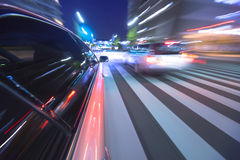 Driving in the night city. Stock Photography
