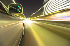 Driving in the night city. Stock Image