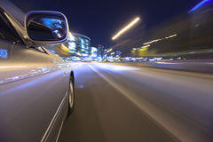 Driving in the night city. Stock Images