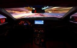 Driving at night Royalty Free Stock Photo