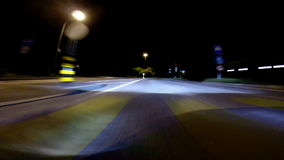 Driving at night Royalty Free Stock Images