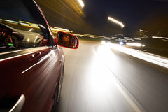 Driving at Night Stock Images