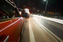 Driving at Night Royalty Free Stock Image