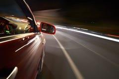 Driving at Night Royalty Free Stock Photos