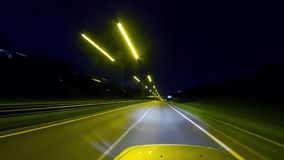 Driving at night, time-lapse. Driving at night, time- lapse stock video