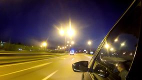 Driving In The Night stock footage