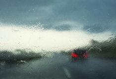 Driving with no visibility Royalty Free Stock Image