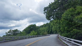 Driving the North Carolina Blue Ridge Parkway Royalty Free Stock Image