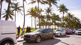 Driving Ocean Drive street, Miami, Florida stock footage