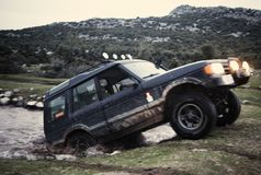 Off Road Vehicle. Driving Off Road Car in the mud very strong vehicle Stock Images