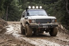 Off Road Vehicle. Driving Off Road Car in the mud very strong vehicle Royalty Free Stock Image