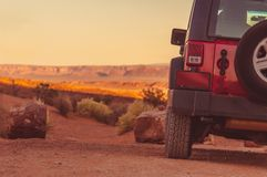 Driving Off Road Concept Royalty Free Stock Images