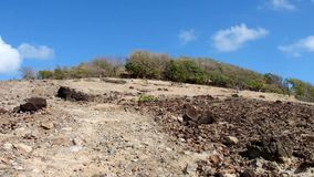 Driving off-road on the windward side of an island in the grenadines stock video footage