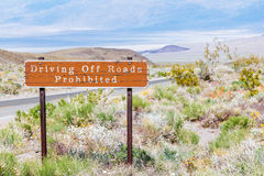 Driving Off Roads Prohibited sign Royalty Free Stock Image