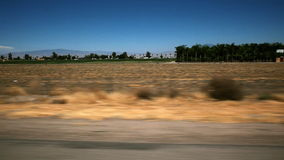 Driving on Open Road stock video footage