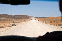 Driving in the outback Royalty Free Stock Image