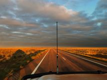 Driving in outback Australia Royalty Free Stock Photos