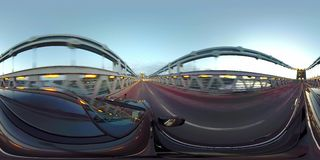 Driving over the Menai Bridge in North Wales towards Anglesey - United Kingdom.  stock footage