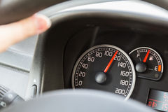 Driving Over Speed Limit Stock Photo