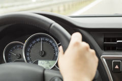 Driving Over Speed Limit Stock Image