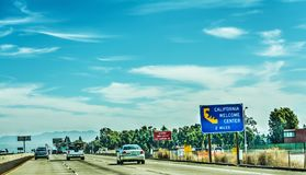Driving on Pacific Coast Highway southbound. California, USA Stock Images