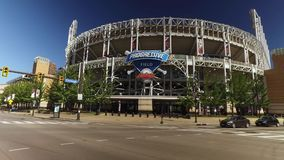 Driving Past Progressive Field in Cleveland, Ohio stock footage