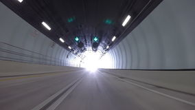 Driving through Port Miami Tunnel Stock Photography