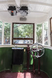 Driving position of a tram Stock Image