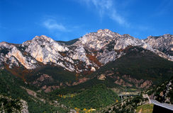 Driving in the Pyrenees Royalty Free Stock Photography