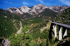 Driving in the Pyrenees Royalty Free Stock Photos
