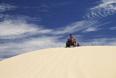 Driving Quadbike Royalty Free Stock Image