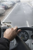 Driving in the rain Royalty Free Stock Photography