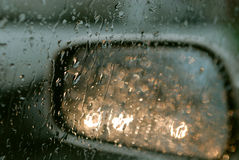 Driving in the rain Royalty Free Stock Images