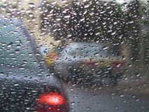 Driving in the rain Stock Photography