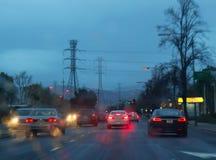 Driving in rain Royalty Free Stock Photos