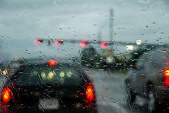 Driving in Rain Storm Stock Photos