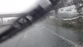 Driving in the rain stock video