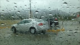Driving on raining day Royalty Free Stock Photo