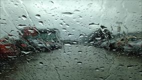 Driving on raining day Royalty Free Stock Images