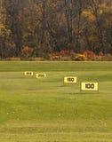 Driving range. Golf driving range in fall Stock Photos